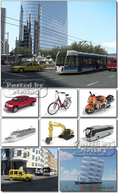 3D models of Street Vehicles and Ships