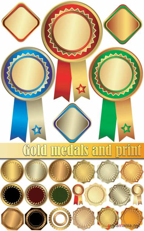 Gold medals and print
