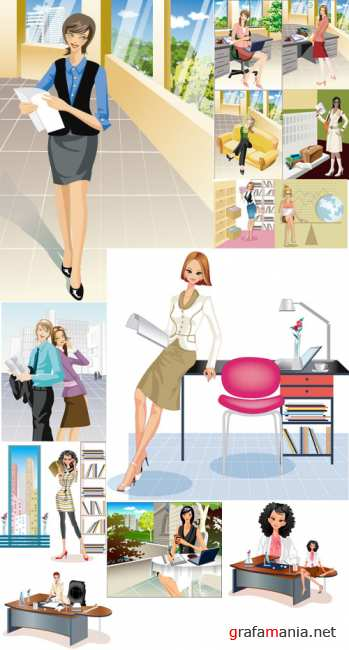 Vector Business Girl