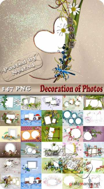 Beautiful Frames for decoration of photos