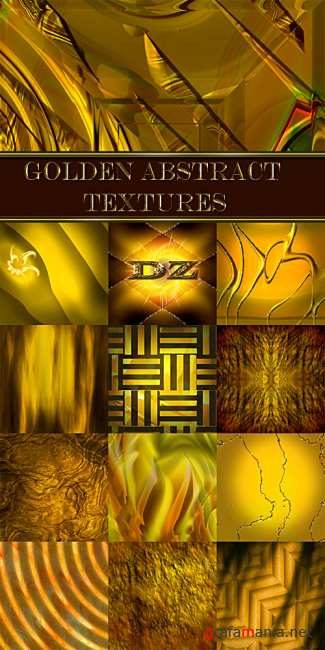 Golden abstract textures