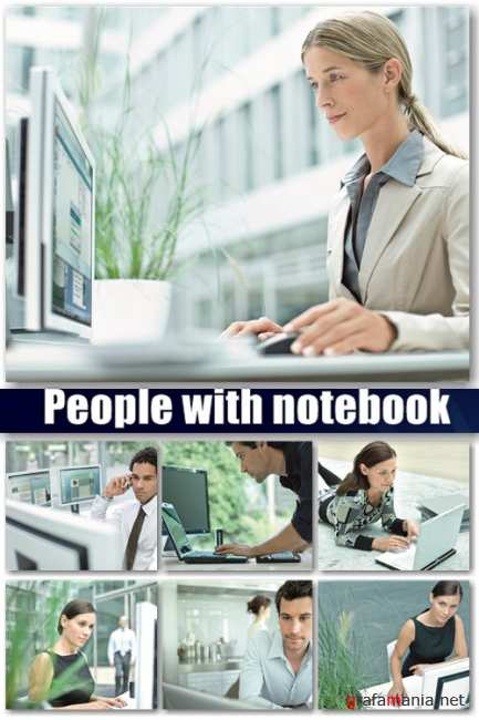 People with notebook