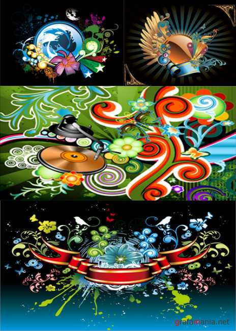 Trend of pattern and Elements vector graphics