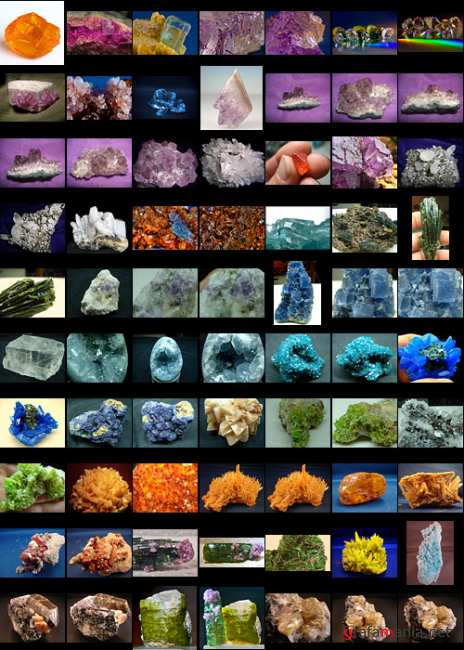 Crystals minerals and precious stones