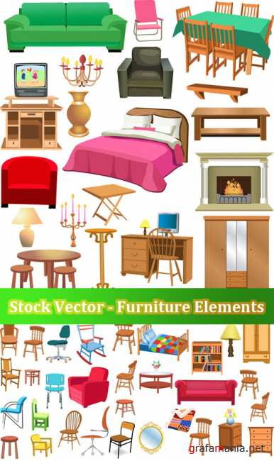 Stock Vector - Furniture Elements