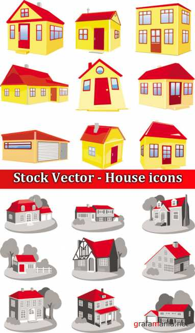 Stock Vector - House icons