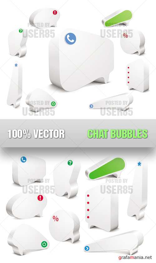 Stock Vector - Chat Bubbles