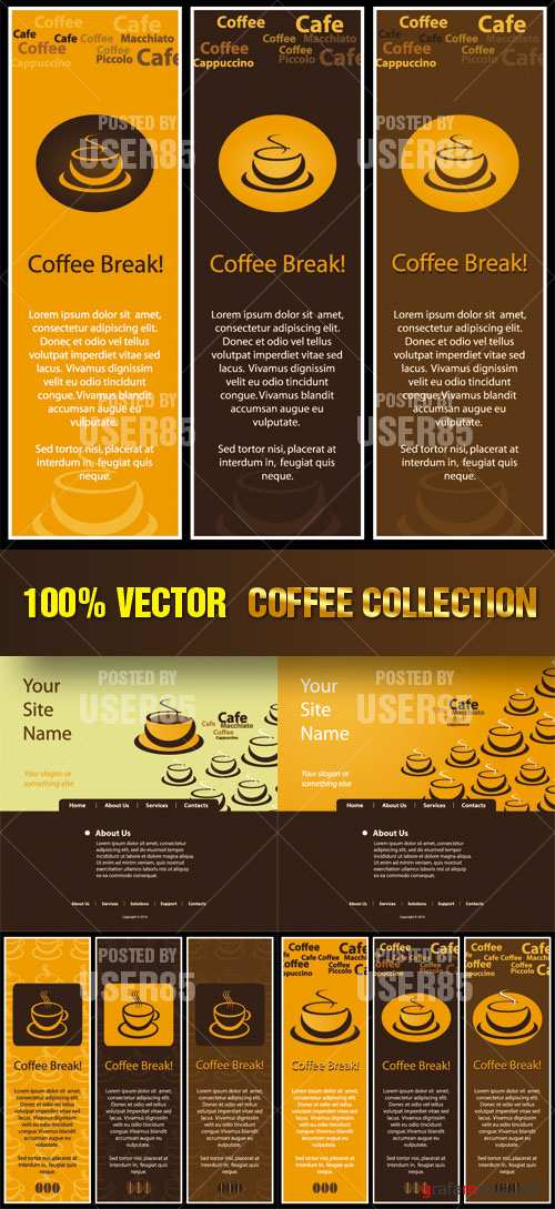 Stock Vector - Coffee Collection