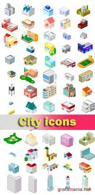 Stock vector - City Icons