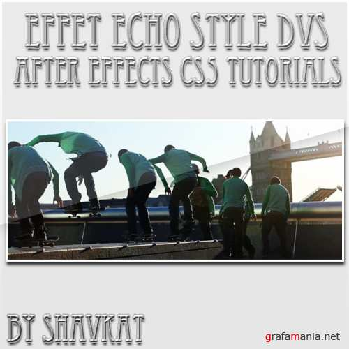 After Effects CS5  Video Tutorial - Effet Echo style DVS