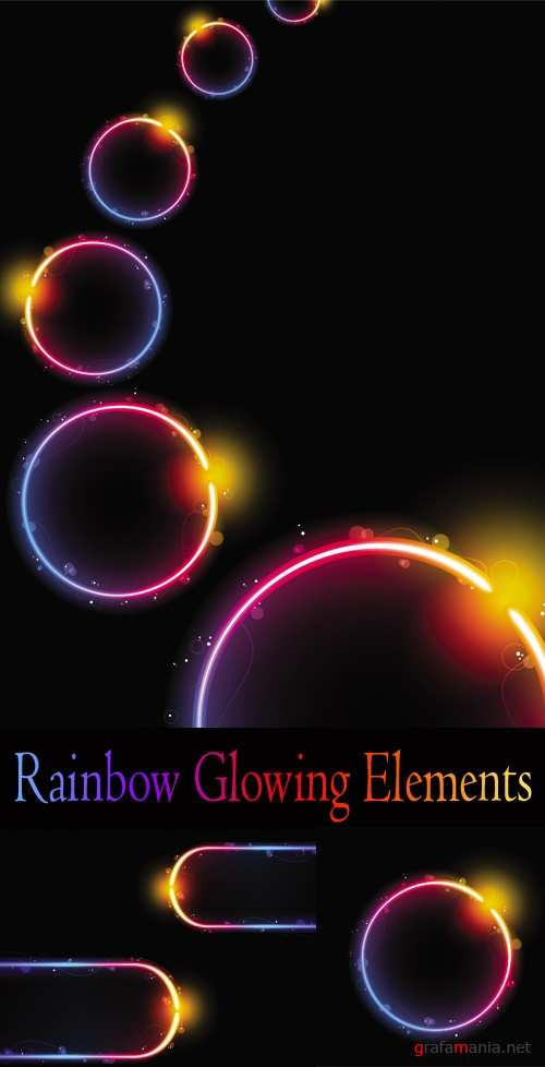Rainbow Glowing Elements