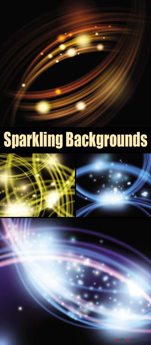 Sparkling Backgrounds Vector