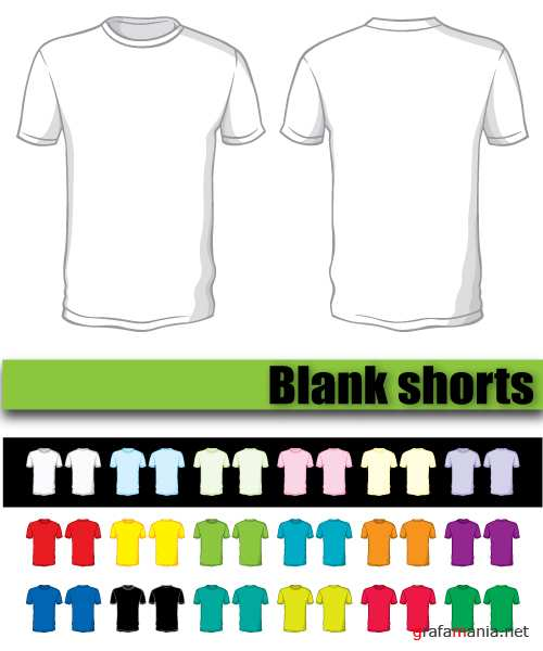 Blank shorts of a different color