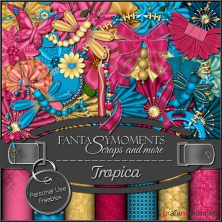 Скрап-набор - Fantasy moments: Tropica