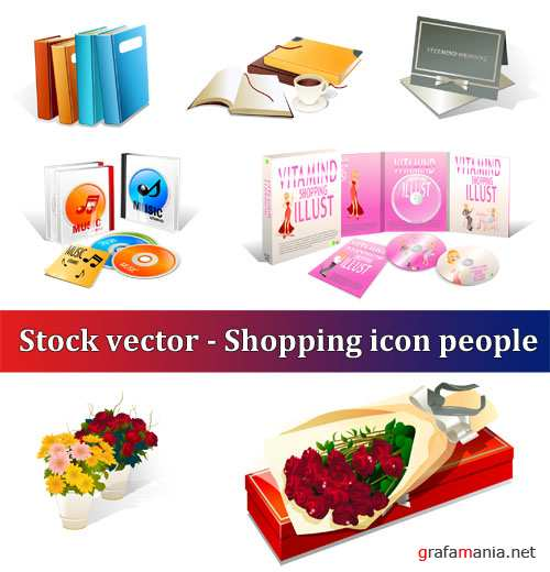 Stock vector - Shopping icon People
