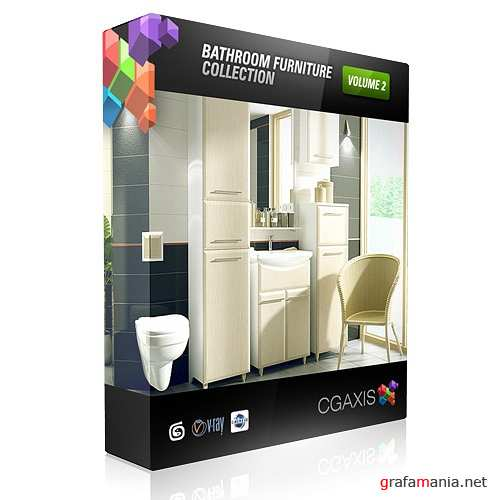 "������� 3D ������� ���������� ""CGAxis bathroom volume 2"""
