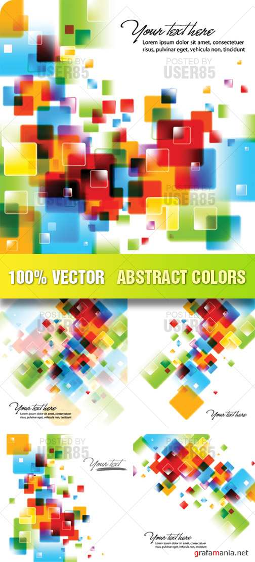 Stock Vector - Abstract Colors