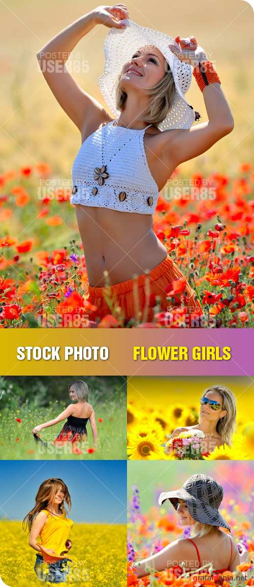 Stock Photo - Flower Girls