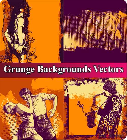 Grunge Backgrounds Vectors