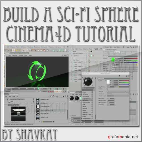 How to build a Sci-Fi Sphere Scene in Cinema 4D