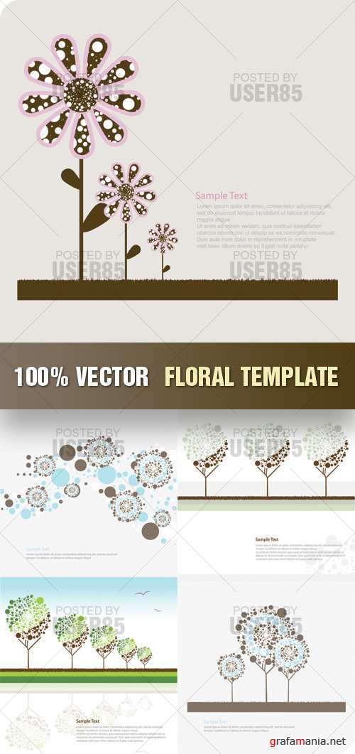 Stock Vector - Floral Template