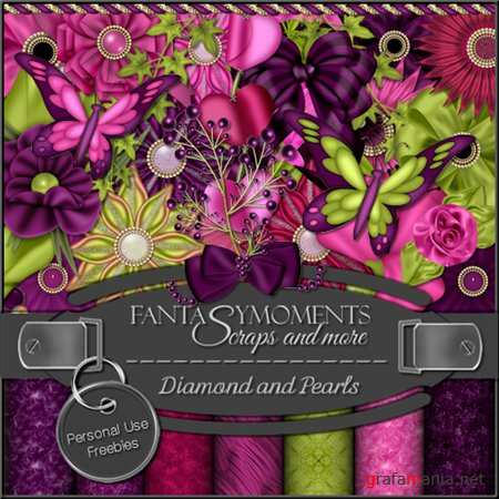 Скрап-набор - Fantasy moments: Diamonds and Pearls