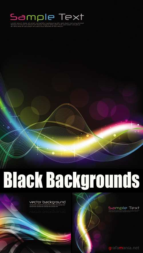 Black Glowing Backgrounds
