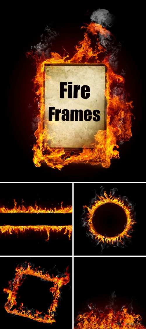 Stock Photo - Fire Frames