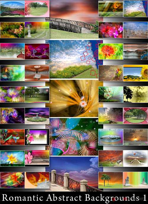 Romantic Abstract Backgrounds 1