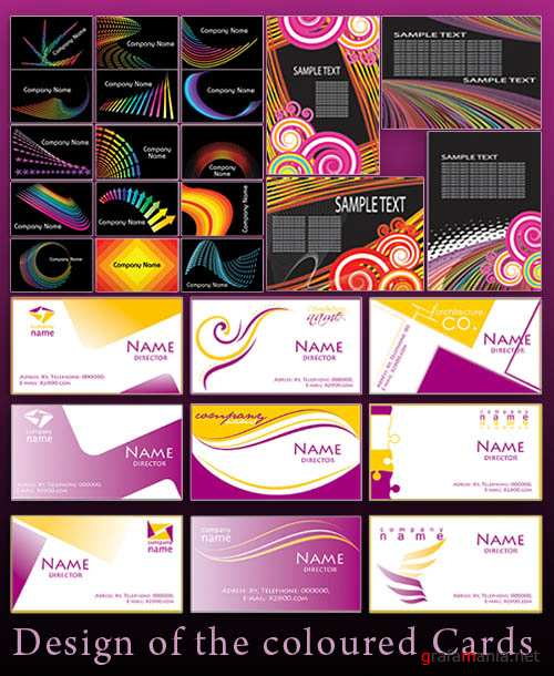 Design of the coloured Cards