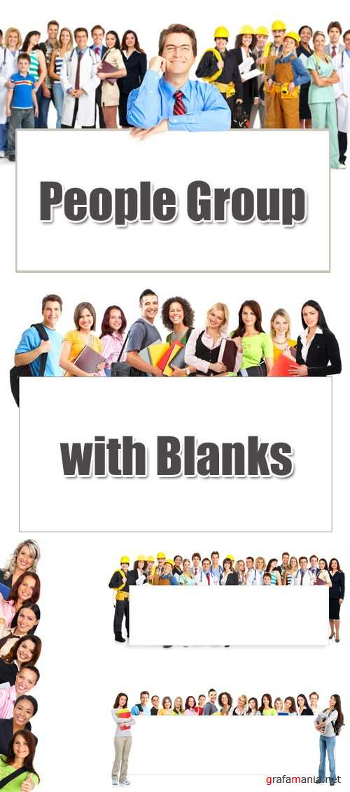Stock Photo - People Group with Blanks