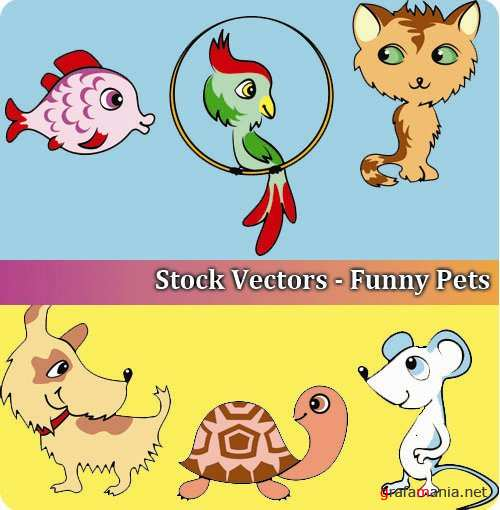 Stock Vectors - Funny Pets