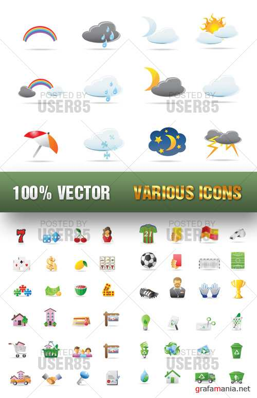 Stock Vector - Various Icons