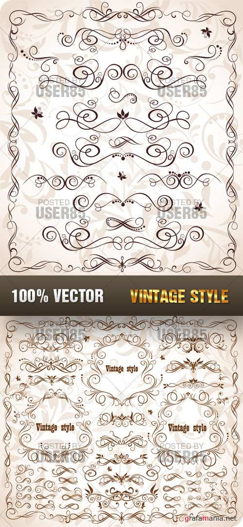Stock Vector - Vintage Style