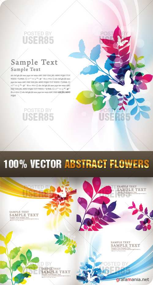 Stock Vector - Abstract Flowers