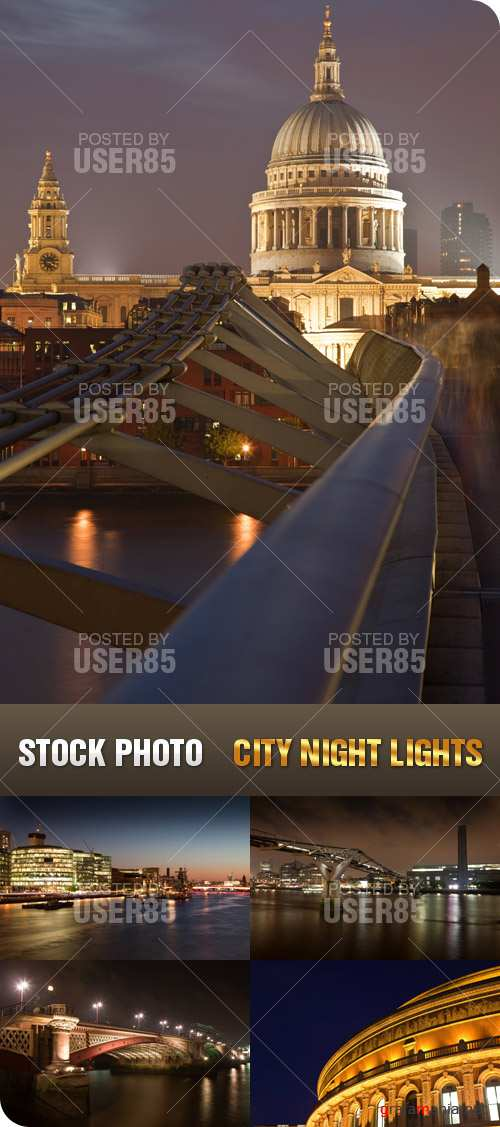 Stock Photo - City Night Lights