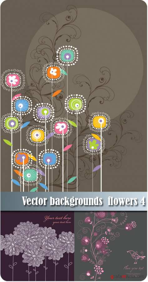 Vector backgrounds flowers 4