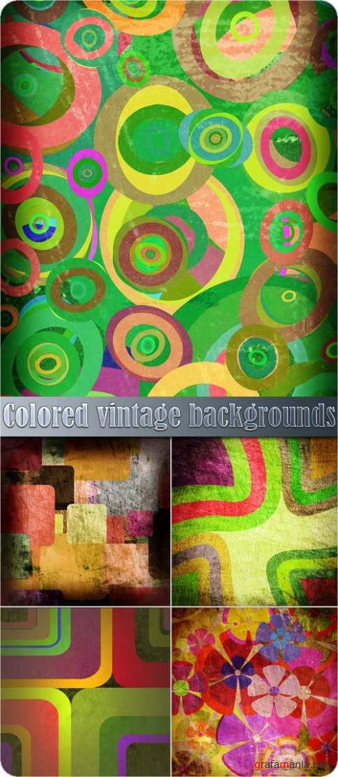 Colored vintage backgrounds