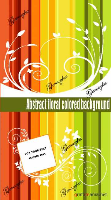 Abstract floral colored background