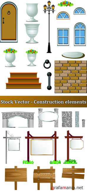 Stock Vector - Construction elements