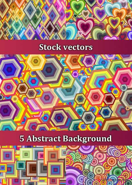 Stock vectors - 5 Abstract Background