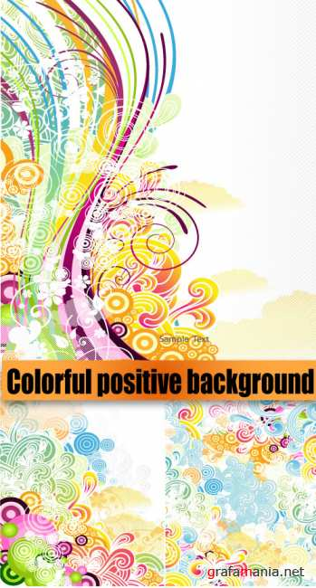 Colorful positive background
