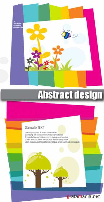 Abstract design with beautiful flowers