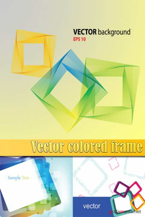 Vector colored frame