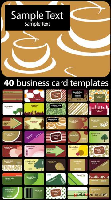 40 business card template