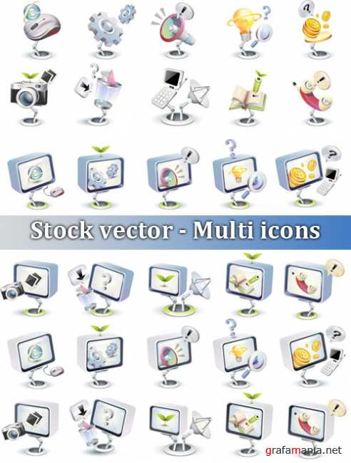Stock vector - Multi icons