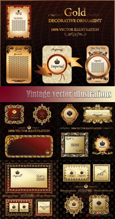 Vintage vector illustrations