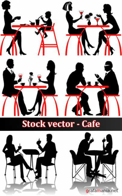 Stock vector - Cafe