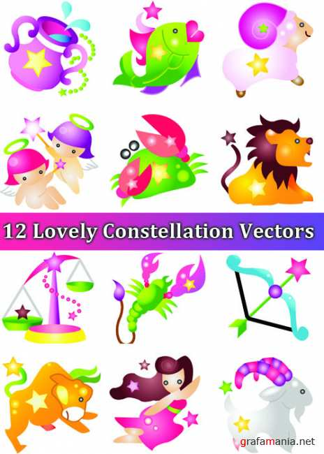 12 Lovely Constellation Vectors