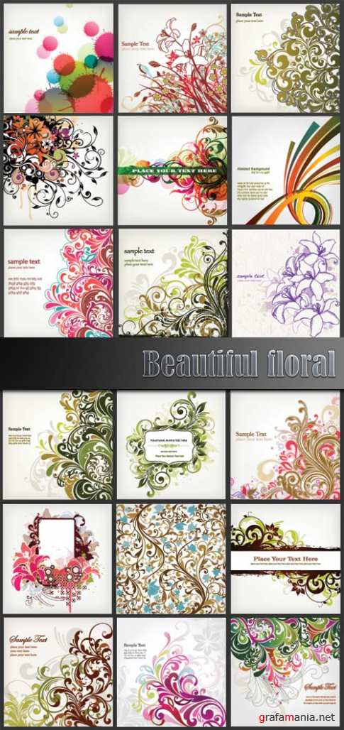 Beautiful floral vector 6